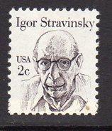USA 1980-8 Great Americans Definitives, 2c Igor Stravinsky, MNH (SG 1819) - Unused Stamps
