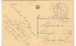 """MILIT. POST WO 2 : ZK (Brugge) """"SM"""" """"PMB / BLP / 29  / 14.X.1939"""" Van 18 D.I.R,  BPS 29 Naar NASSOGNE"""