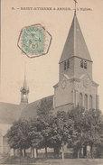 08 Arnes 1907  RARE St Etienne L'église Livoir éditeur Photo Durand 371 Habitants En 1908 - Autres Communes