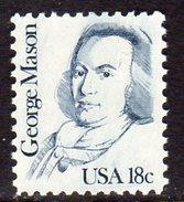 USA 1980-8 Great Americans Definitives, 18c George Mason, MNH (SG 1826) - Vereinigte Staaten