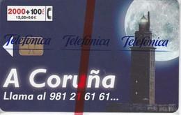 CP-162 TARJETA DE A CORUÑA DE TIRADA 12000  (NUEVA-MINT CON BLISTER)  ¡¡VALOR FACIAL!!
