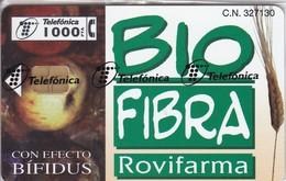 P-369 TARJETA DE ESPAÑA DE BIO FIBRA  DEL 12/98 Y TIRADA 7600  (NUEVA-MINT CON BLISTER)  ¡¡PRECIO FACIAL!!
