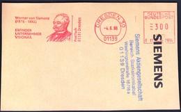 Germany Dresden 1996 / Machine Stamp / Werner Von Siemens / Erfinder, Unternehmer, Visionar - Other