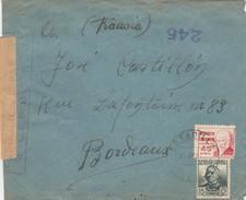 ESPAÑA 1938 Carta De ESTADILLA  HUESCA  125 BRIGADA MIXTA    Hasta  BORDEAUX     EL517