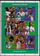 E0211 CHAD (Tchad) 2002, Champions Of Cricket,  MNH - Ciad (1960-...)
