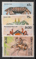 Cocos - 1990 - N°Yv. 214 à 217 - Crabes - Neuf Luxe ** / MNH / Postfrisch - Cocos (Keeling) Islands