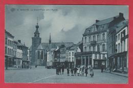 Binche - La Grand'Place Vers L'Eglise  - S.B.P. - 1909 ( Voir Verso ) - Binche