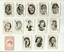 13 X  Speelkaarten(klein Formaat) = Diverse Filmsterren ! . - Photos