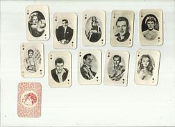 10 X  Speelkaarten(klein Formaat) = Diverse Filmsterren ! . - Photos
