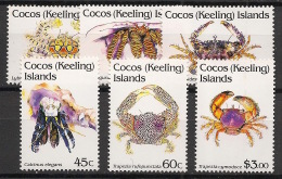 Cocos - 1992 - N°Yv. 244 à 249 - Crabes - Neuf Luxe ** / MNH / Postfrisch - Cocos (Keeling) Islands