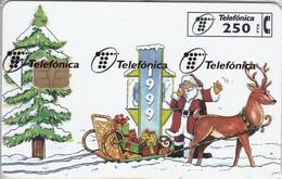 P-370 TARJETA NAVIDAD CABITEL DE TIRADA 16000 (CHRISTMAS) PAPA NOEL  (NUEVA-MINT CON BLISTER)