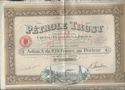 ACTION DE 1924 PÉTROLE TRUST : - Petróleo