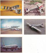 Chocolat POULAIN Lot De 5 Images L'Aviation - Oude Documenten