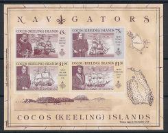 Cocos - 1990 - Bloc Feuillet N°Yv. 9 - Navigateurs - Neuf Luxe ** / MNH / Postfrisch - Cocos (Keeling) Islands