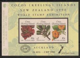 Cocos - 1990 - Bloc Feuillet N°Yv. 10 - Fleurs - Neuf Luxe ** / MNH / Postfrisch - Cocos (Keeling) Islands
