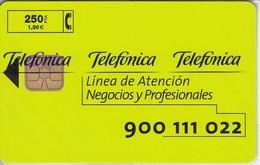 P-376 TARJETA DE LINEA DE ATENCION DEL 3/99 Y TIRADA 7500 (NUEVA-MINT CON BLISTER)
