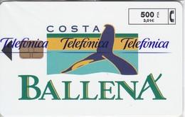 P-378 TARJETA DE ESPAÑA COSTA BALLENA DE TIRADA 6000 (WHALE)  NUEVA-MINT CON BLISTER