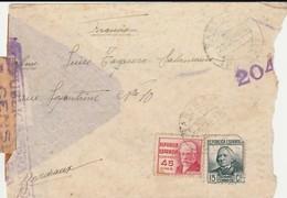 ESPAÑA 1938  4 Cartas De SARIÑENA, BARCELONA  Etc.    Hasta  BORDEAUX     EL519