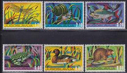 Yugoslavia 1976 Animals - Fauna, MNH (**) Michel 1640-1645 - 1945-1992 Socialist Federal Republic Of Yugoslavia