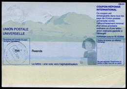 RWANDA   International Reply Coupon / Coupon Réponse International - Autres