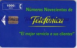 P-380 TARJETA DE ESPAÑA DE TELEFONICA 1000 PTAS TIRADA 3000    NUEVA-MINT CON BLISTER ¡¡VALOR FACIAL!!