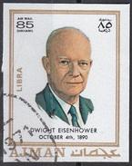 785 Ajman 1971 Dwight David Eisenhower (1890-1969) - Zodiaco Libra Bilancia -  Imperf. Zodiac - Astrologia