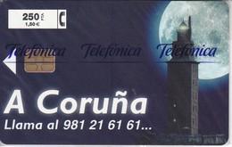 P-387 TARJETA DE ESPAÑA DE A CORUÑA DE 250 PTAS TIRADA 4000    NUEVA-MINT CON BLISTER