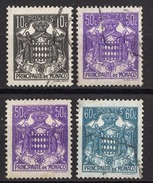 MONACO 1943 - LOT Y.T.  N° 249 / 252 X 2 / 253 - OBLITERES /FD241 - Usati