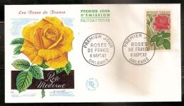 FRANCE ENVELOPPE 1ER JOUR -ROSE DE FRANCE - 8 SEPT. 62 - FDC
