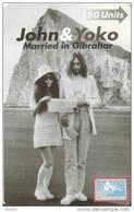Nº 42 TARJETA DE GIBRALTAR DE JOHN LENNON Y YOKO NUEVA-MINT - Gibraltar