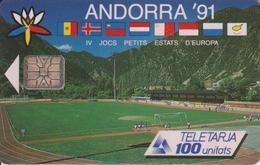 AND1 JEUX DES PETITS ETATS 100 SC6 06/91 LUXE-ANDORRE