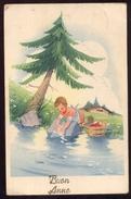 BUON ANNO (9) - BAMBINI -  CHILDREN - KINDER - ENFANTS - VIAGGIATA NEL 1942 BAMBINA LAVANDAIA - Scene & Paesaggi