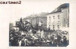 CARTE PHOTO : CAMBRAI MARCHE HISTORIQUE CHAR ATTELAGE FETE CAVALCADE 59 NORD - Cambrai