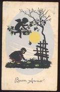 BUON ANNO (3) - BAMBINI -  CHILDREN - KINDER - ENFANTS - VIAGGIATA NEL 1942 SILHOUETTE - Siluette