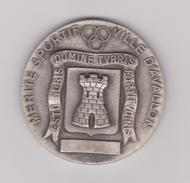 MEDAILLE AVALLON MERITE SPORTIF DIAMETRE 40 MM MONOFACE - Francia