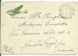 Lettre ERITREE 1936 , Poste Militaire      (17/18) - Erythrée