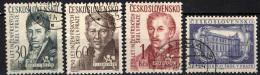 CECOSLOVACCHIA - 1957 - SCUOLA DI INGEGNERIA A PRAGA - 250° ANNIVERSARIO - USATI - Gebraucht