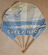 Ancien EVENTAIL Publicitaire  - Café  BIEC - Eventails