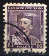 CECOSLOVACCHIA - 1932 - EFFIGIE DI MIROSLAV TYRS - USATO - Czechoslovakia