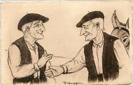 Illustrateur Huygen Paysans Basque 11 Topes La Affaire Conclue - Unclassified