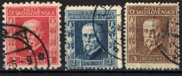 CECOSLOVACCHIA - 1925 - EFFIGIE DEL PRESIDENTE MASARYK - FORMATO PICCOLO - USATI - Czechoslovakia