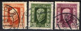 CECOSLOVACCHIA - 1925 - EFFIGIE DEL PRESIDENTE MASARYK - FORMATO GRANDE - USATI - Czechoslovakia