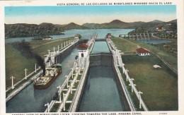 Panama Canal View Of Miraflores Locks Looking Towards The Lake