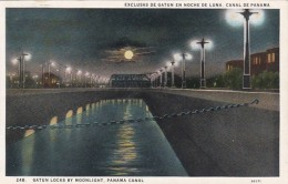 Panama Canal Gatun Locks By Moonlight
