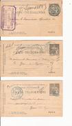 Cinq Carte Télégramme  Paris Cachet Bleu - France