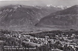 Switzerland Montana Vue Sur La Plaine Et Val D'Anniviers Photo - VS Valais