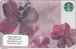 Thailand Starbucks Card  Flower 2015 - 6118 - Gift Cards