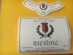 3969 - Riesling 1986 Ville De Colmar Alsace - Blancs