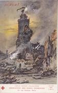 3 CPA Guerre 14-18 Illustrée Par Fraipont Croix Rouge Association Des Dames Françaises Villes Martyres, Reims  ALBERT - Guerre 1914-18