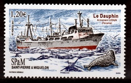 """Saint Pierre And Miquelon, Ship """"Le Dauphin"""", 2017, MNH VF - Unused Stamps"""